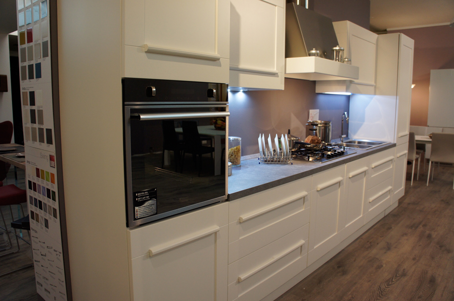 Cucina Lube mod. Gallery laccata bianco opaco | Outlet ...